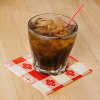 Hoffmaster 020398 Red Gingham Beverage / Cocktail Napkin   - 1000/Case