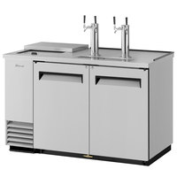 Turbo Air TCB-2SD (2) Double Tap Club Top Kegerator Beer Dispenser - Stainless Steel, (2) 1/2 Keg Capacity
