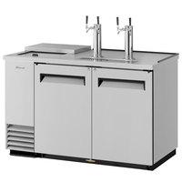 Turbo Air TCB-2SD (2) Double Tap Club Top Kegerator Beer Dispenser - Stainless Steel, (2) 1/2 Keg Capacity