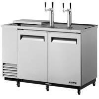 Turbo Air TCB-2SD 59 inch Super Deluxe Stainless Steel Club Top Beer Dispenser - 2 Kegs