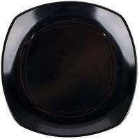 Carlisle 4330603 Upturned Corner 9 1/2 inch Black Square Melamine Plate - 48/Case