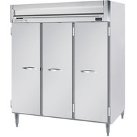 Beverage-Air HFPS3-5S Horizon Series 78 inch Solid Door All Stainless Steel Reach-In Freezer
