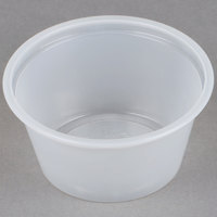 Choice 2 oz. Plastic Souffle Cup / Portion Cup - 125/Pack