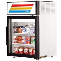 True GDM-5F-LD White Countertop Display Freezer with Swing Door - 5 cu. ft.