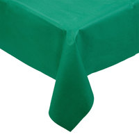 Hoffmaster 220833 50 inch x 108 inch Linen-Like Hunter Green Table Cover - 20/Case