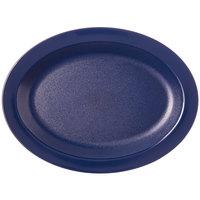 Carlisle PCD41250 Dark Blue 12 inch x 9 inch Oval Polycarbonate Platter - 24/Case