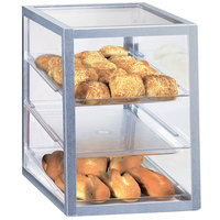 Cal-Mil 253 Three Tier Aluminum Display Case with Rear Door - 18 inch x 11 3/4 inch x 17 1/2 inch