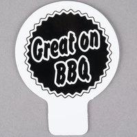 Deli Tag Topper - GREAT ON THE BBQ - Black