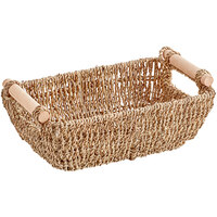 Hoffmaster 12 inch x 6 1/4 inch Seagrass Wicker Guest Towel Holder