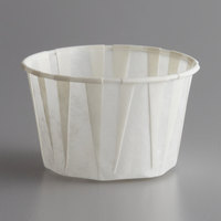 Genpak F250 Harvest Paper 2.5 oz. Compostable Souffle / Portion Cup - 5000/Case