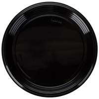 Fineline Platter Pleasers 7210TF PET Plastic Black Thermoform 12 inch Catering Tray - 25/Case