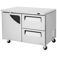 Turbo Air TUF-48SD-D2 Super Deluxe 48 inch Undercounter Freezer with One Door and Two Drawers