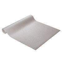 Cactus Mat 1051R-E4R Diamond Plate 4' Wide Anti-Slip Gray Vinyl Deckplate Runner Mat - 5/32 inch Thick