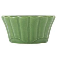 CAC RMK-F2G Festiware 2 oz. Green China Floral Ramekin - 48/Case