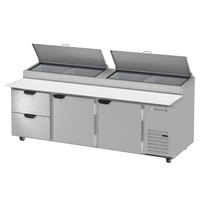 Beverage-Air DPD93-2 93 inch Pizza Prep Table with Two Doors and Two Drawers