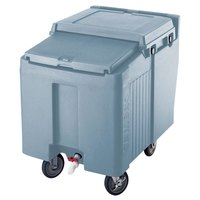 Cambro ICS125L401 Slate Blue Sliding Lid Portable Ice Bin - 125 lb. Capacity