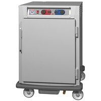 Metro C5 9 Series C595L-SFS-UPFC Half Size Insulated Low Wattage Pass-Through Holding Cabinet with Solid Door and Chrome Universal Slides