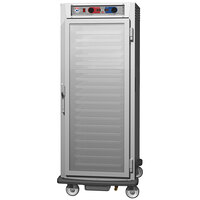 Metro C5 9 Series C599L-SFC-UPFC Full Size Insulated Low Wattage Pass-Through Holding Cabinet with Clear Door and Chrome Universal Slides
