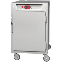 Metro C5 8 Series C585L-SFS-UPFC Half Size Insulated Low Wattage Pass-Through Holding Cabinet with Solid Door and Chrome Universal Slides