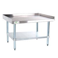 Regency 16 Gauge 30 inch x 36 inch Stainless Steel Equipment Stand with Galvanized Undershelf