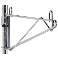 Metro 1WS24S Super Erecta Stainless Steel Post-Type Wall Mount 24 inch Shelf Support