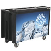 Black Arctic 720 Mobile 288 Qt. Cooler with Casters