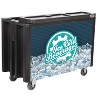 IRP Black Arctic 3501536 Mobile 288 Qt. Cooler with Casters