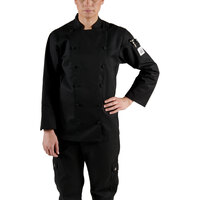 Chef Revival LJ025BK-S Chef-Tex Size 4 (S) Black Customizable Ladies Cuisinier Chef Jacket