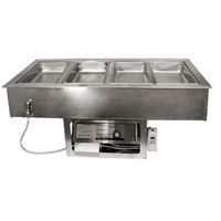 APW Wyott CHDT-4 4 Pan Cold / Hot Dual Temp Well