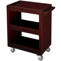 Cambro BC2254S131 Dark Brown Three Shelf Service Cart - 28 inch x 16 inch x 32 1/4 inch
