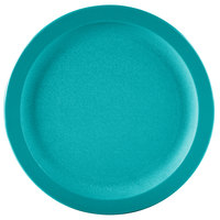 Carlisle PCD20915 Teal 9 inch Polycarbonate Narrow Rim Plate - 48/Case