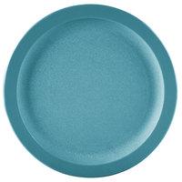 Carlisle PCD20915 Teal 9 inch Polycarbonate Narrow Rim Plate - 48/Case