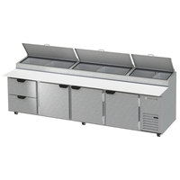 Beverage-Air DPD119-2 119 inch Pizza Prep Table with Three Doors and Two Drawers