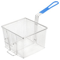 Globe LGBASKET1632 7 3/4 inch x 8 1/2 inch x 6 inch Full Size Fryer Basket with Front Hook