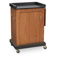 Oklahoma Sound SCLMO Smart Cart Lectern - Medium Oak Finish