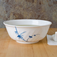 Thunder Group 5308BB Blue Bamboo 48 oz. Round Melamine Swirl Bowl - 12/Case