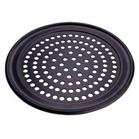 American Metalcraft SPHCTP14 14 inch Super Perforated Hard Coat Anodized Aluminum Wide Rim Pizza Pan