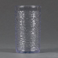 Carlisle 551207 Pebble Optic 12 oz. Clear SAN Plastic Tumbler - 24/Case