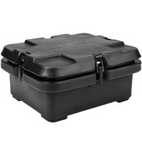 Cambro 240MPC110 Camcarrier 4 inch Deep Black Top Loading Inuslated Food Pan Carrier