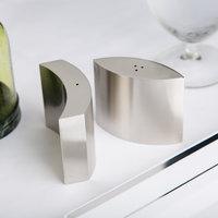 American Metalcraft SPDX11 4 oz. Stainless Steel Embracing Salt and Pepper Shaker Set