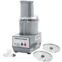 Robot Coupe R101 Combination Cutter and Vegetable Slicer with 2.5 Qt. Gray Polycarbonate Bowl - 3/4 hp