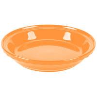 Homer Laughlin 487325 Fiesta Tangerine 10 1/4 inch Deep Dish Pie Baker - 4/Case