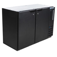 Beverage-Air BB48HC-1-B 48 inch Black Back Bar Refrigerator with 2 Solid Doors 115V