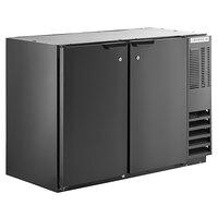 Beverage-Air BB48HC-1-B 48 inch Black Back Bar Refrigerator with 2 Solid Doors 115V