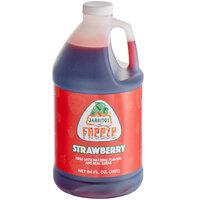 Jarritos 1/2 Gallon Strawberry Slushy 5:1 Concentrate - 6/Case