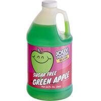 Jolly Rancher 1/2 Gallon Sugar Free Green Apple Slushy 5:1 Concentrate - 6/Case