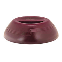 Cambro MDSD9487 Shoreline Collection Cranberry 10 1/4 inch Insulated Plastic Dome Plate Cover - 12/Case