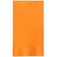 Choice 15 inch x 17 inch Customizable Orange 2-Ply Paper Dinner Napkin - 1000/Case