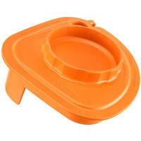 Vitamix 58998 Orange Two-Piece Splash Lid with Tethered Plug for Advance Jars