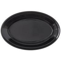 Carlisle 4356303 Dallas Ware 9 1/4 inch x 6 1/4 inch Black Oval Platter - 24/Case